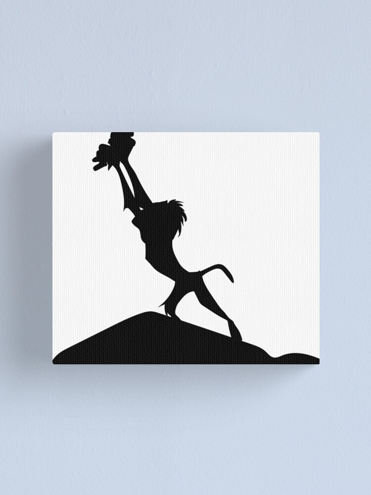 Lion King Silhouette Canvas Print By Upbeat Redbubble
