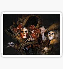 Venice Carnival masquerade, Baroque masks Sticker