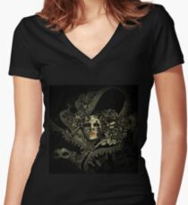 Venetian alien Women's Fitted V-Neck T-Shirt