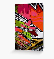 Graffiti Vector Design  Greeting Card