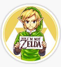 Dude, I'm Not ZELDA! Sticker