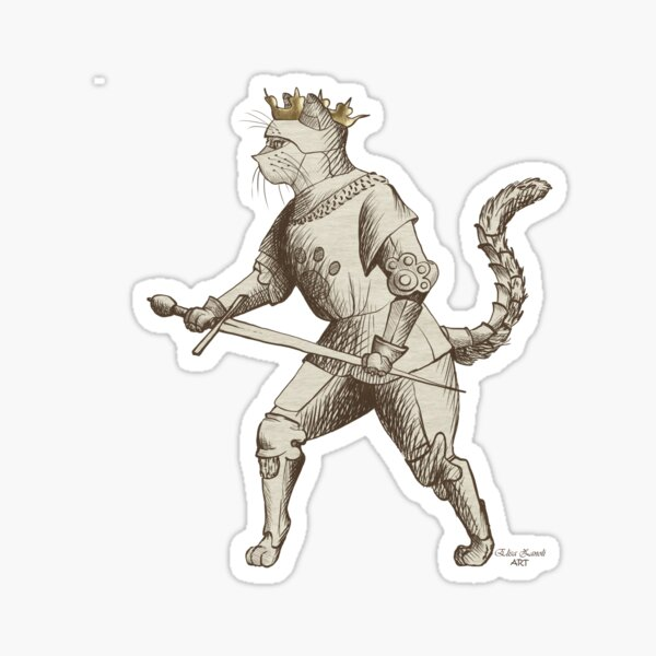 Hemanimals - Fiore de Liberi -  Cat in armour  Sticker