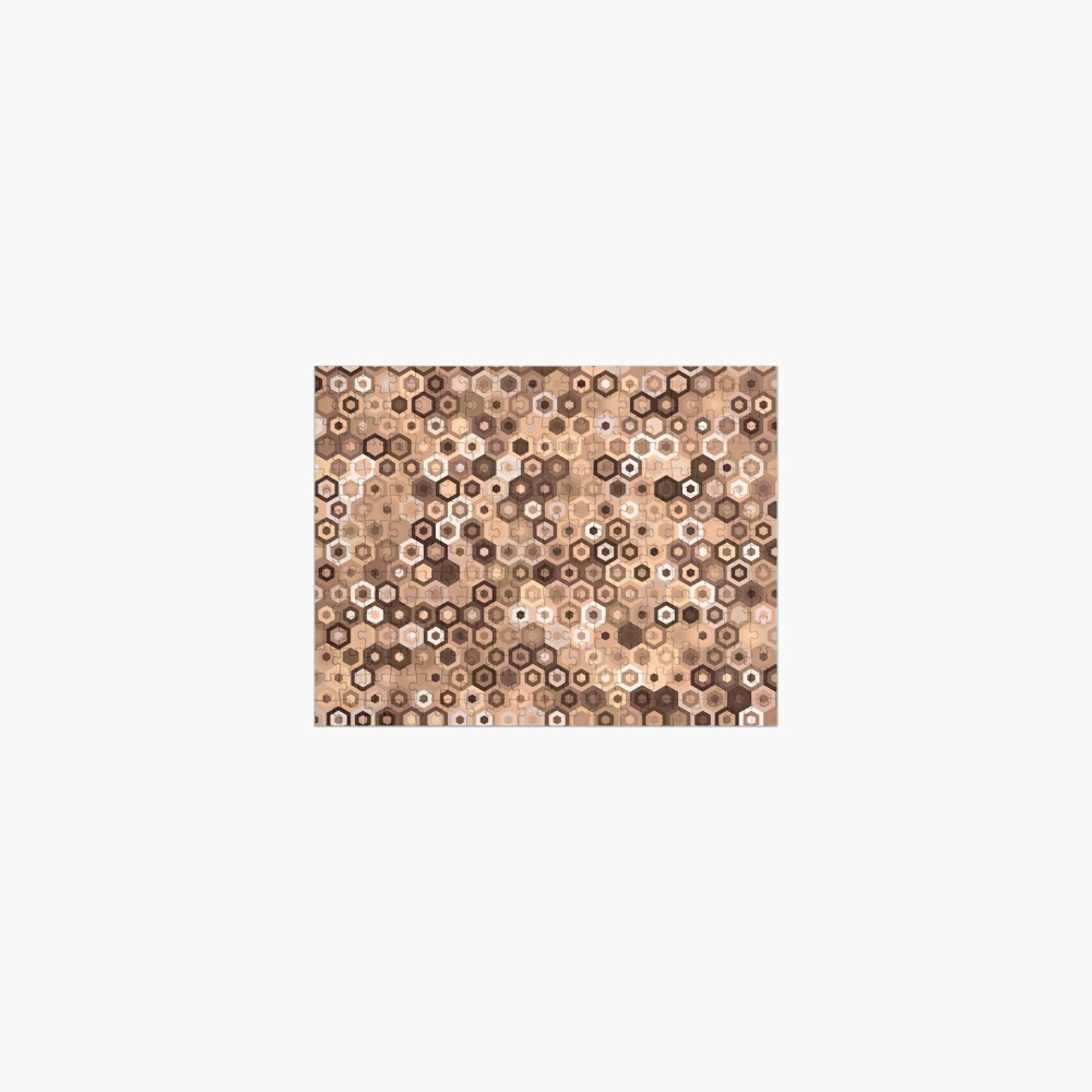 Chocolate Hex Dazzle Jigsaw Puzzle