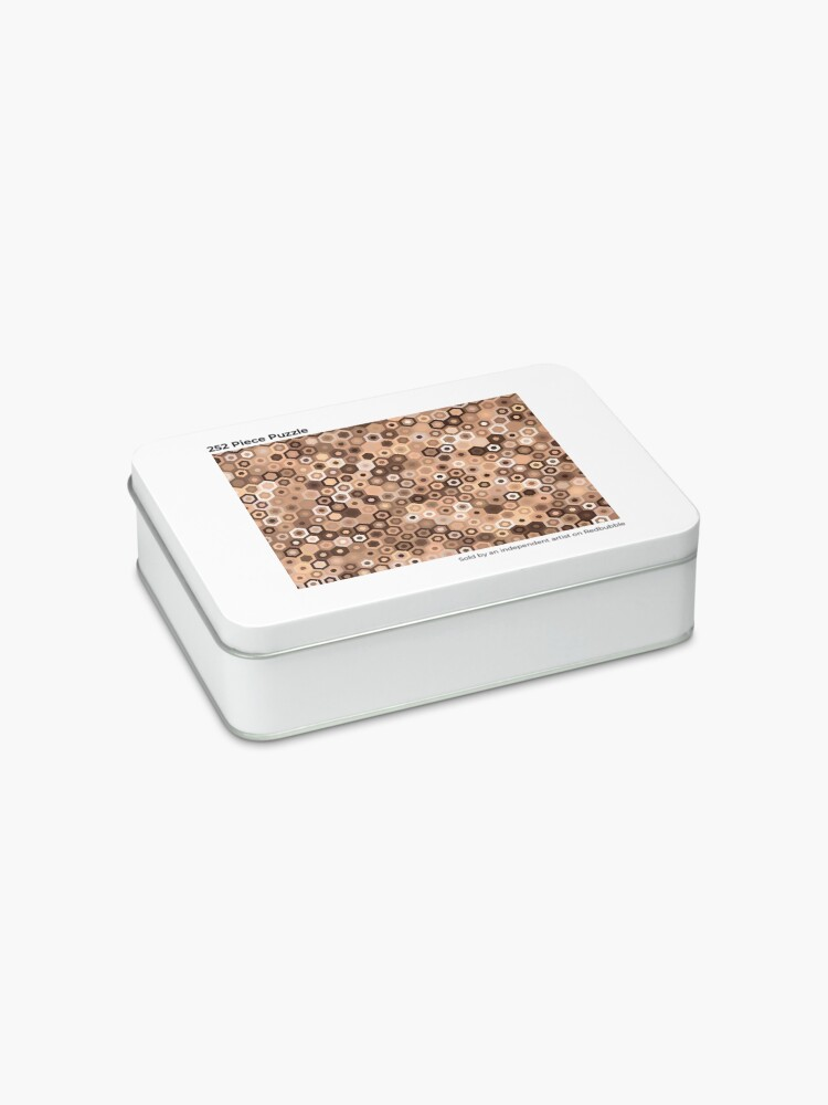 Alternate view of Chocolate Hex Dazzle Jigsaw Puzzle