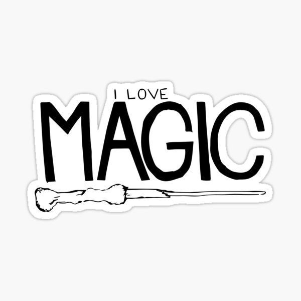I love magic. Sticker