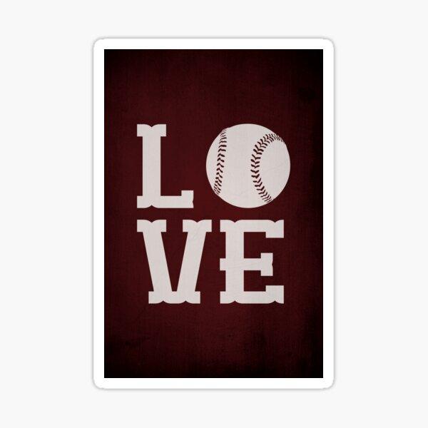 Baseball Love Sticker