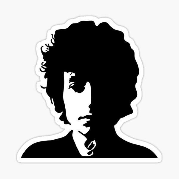 Bob Dylan (Black) Sticker