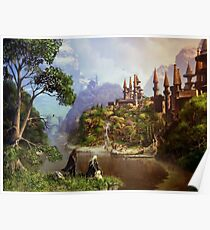 Elves and castle Poster