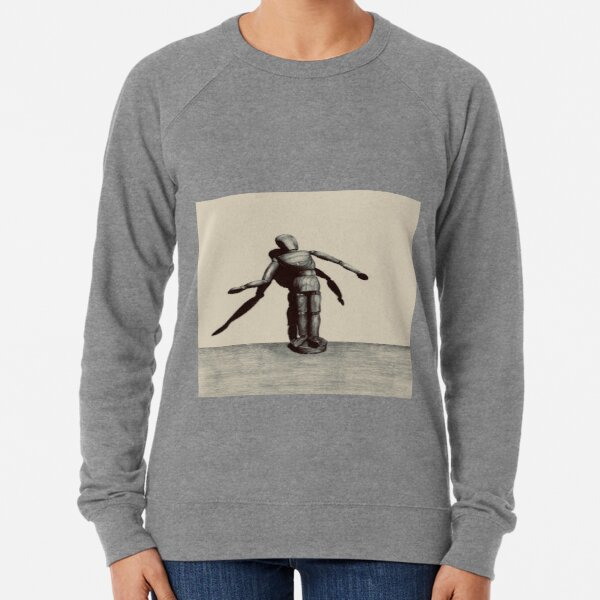 Wooden doll with light and shadow Lightweight Sweatshirt