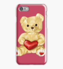 Pink Cute Teddy Bear iPhone Case/Skin