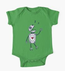 Happy Singing Robot One Piece - Short Sleeve