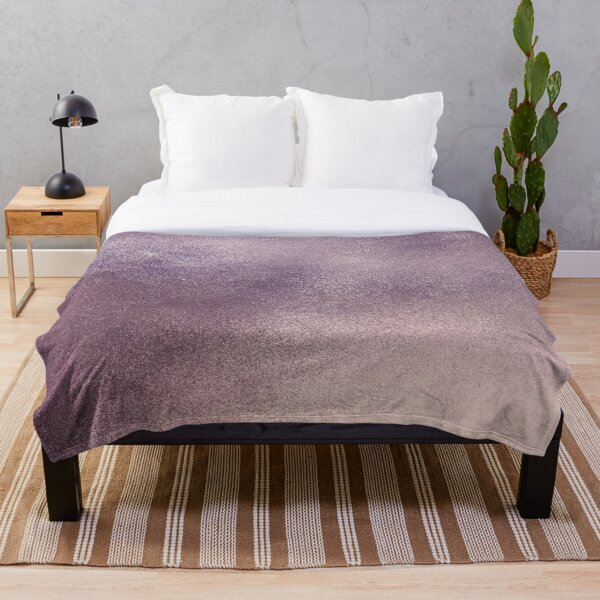 Purple Shimmer Throw Blanket