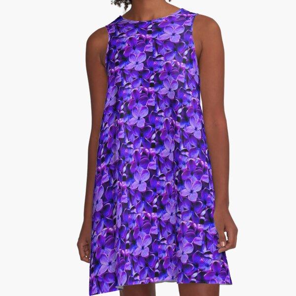 purple hyacinth classic & simple A-Line Dress