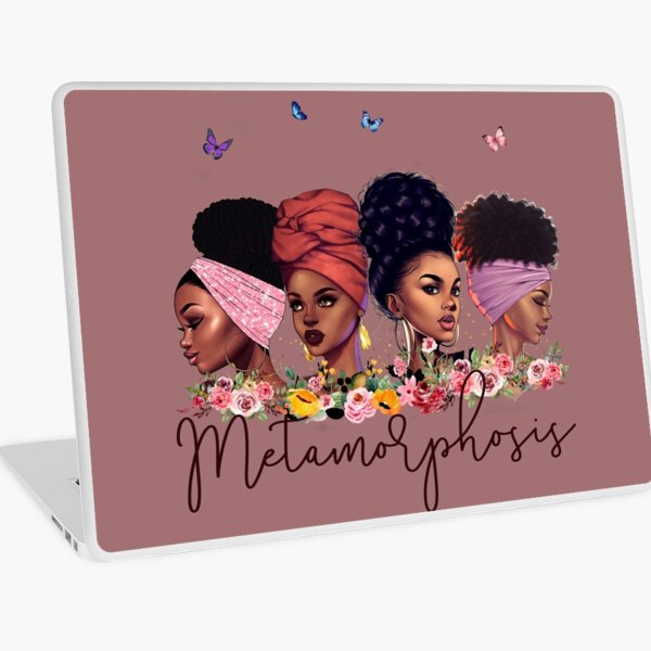 Metamorphosis I: African American Black Woman Artwork Laptop Skin