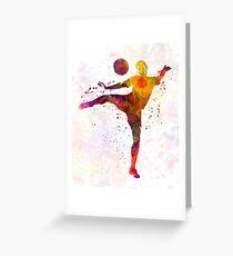 man soccer football player 07 Greeting Card