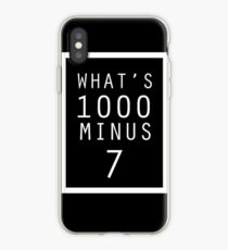 Tokyo Ghoul What's 1000 minus 7 iPhone Case