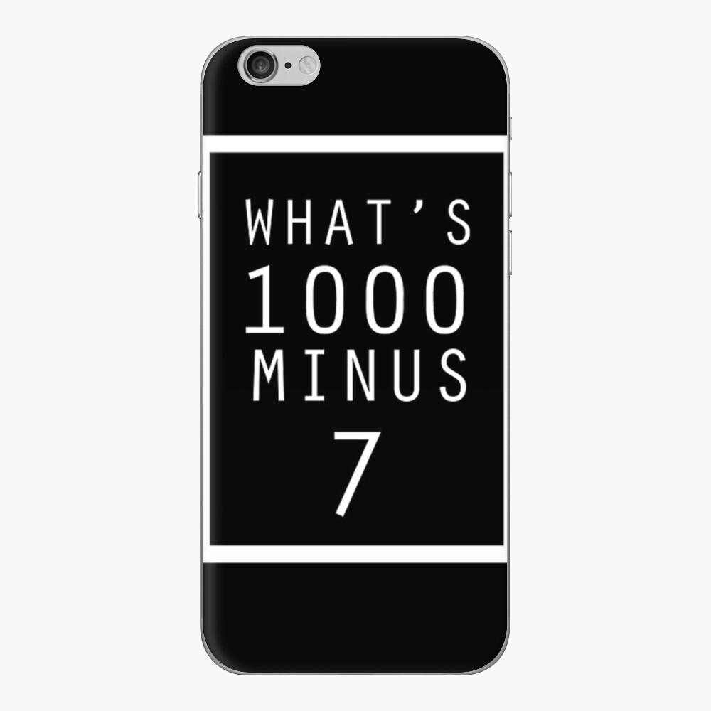 Ghoul de Tokio ¿Qué es 1000 menos 7? Vinilo para iPhone