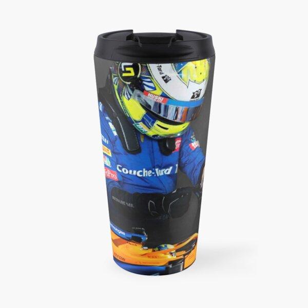 Lando Norris Mclaren F1 fond sombre de voiture à l'honneur Mug isotherme