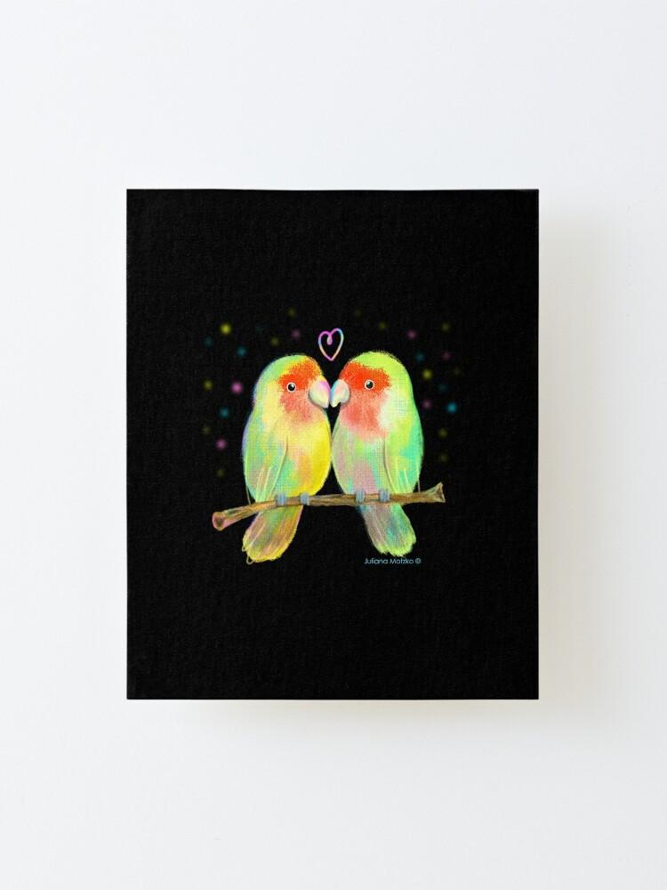 Alternate view of Love Birds Mounted Print