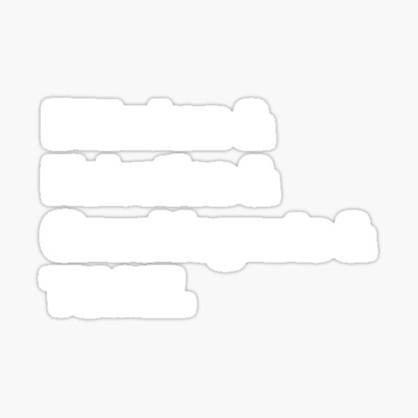 ADHDnD Team Names- White Variant Sticker