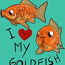 Common goldfish - I love goldie by Furiarossa