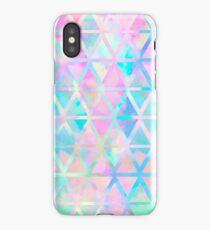 Pink pastel aztec pattern iPhone Case/Skin
