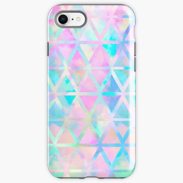 Pink pastel aztec pattern iPhone Tough Case