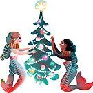 Christmas mermaids by ullamermaid