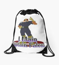 I Main Captain Falcon - Super Smash Bros Melee Drawstring Bag