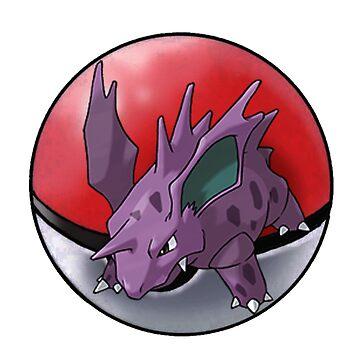 Nidorino pokeball - pokemon by pokofu13