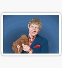 Martin Freeman with Puppy Sticker