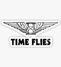 Time Flies (Flying Hourglass) Sticker