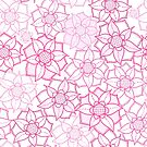 Pink floral pattern in doodle style by Nataliia-Ku