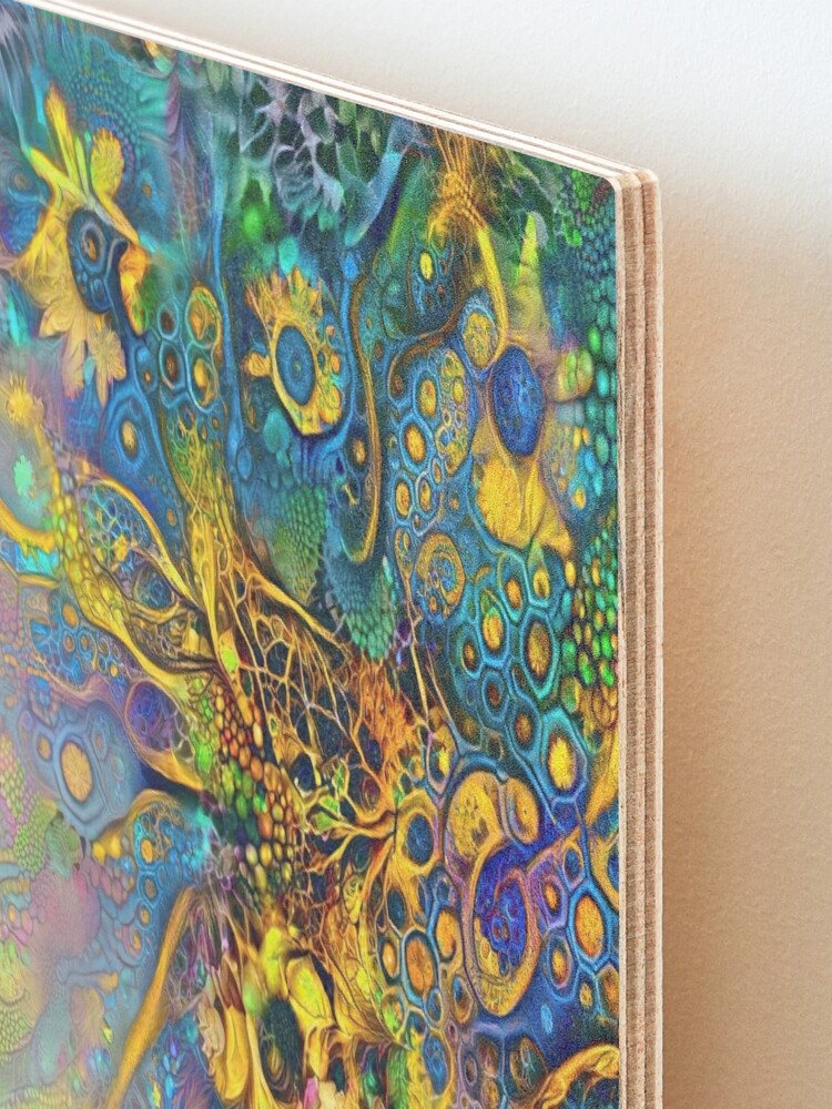 Alternate view of Deepdream floral fractalize abstraction Mounted Print