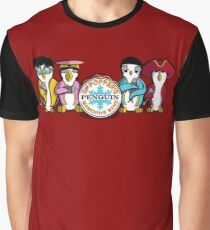 Sgt Poppers Penguin Marching Band Graphic T-Shirt