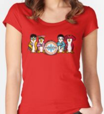 Sgt Poppers Penguin Marching Band Women's Fitted Scoop T-Shirt