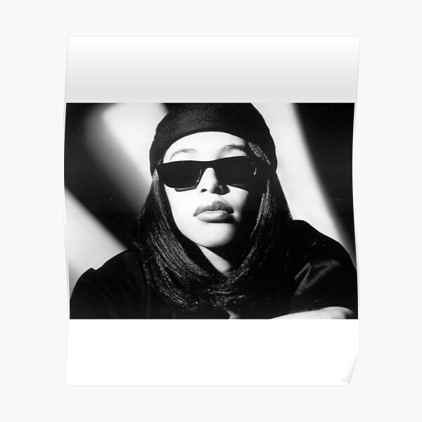 Aaliyah Printed T-shirt Black Tee Shirt Poster