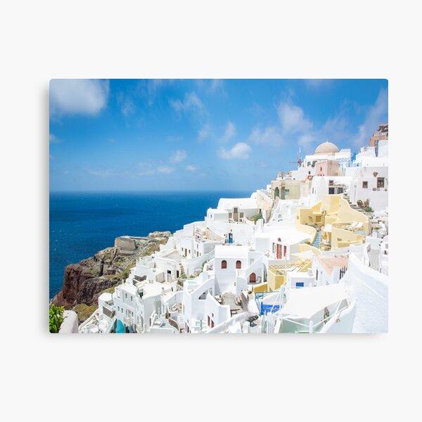 Oia Santorini Greece Townscape and Ocean Views  Metal Print
