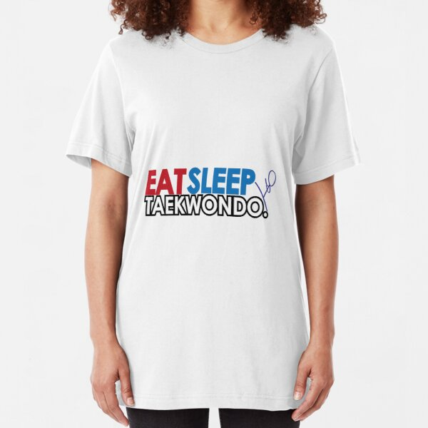 Eat, Sleep, Taekwondo Slim Fit T-Shirt