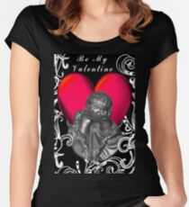 *•.¸♥♥¸.•*VALENTINE KISSES B MY VALENTINE *•.¸♥♥¸.•* Women's Fitted Scoop T-Shirt