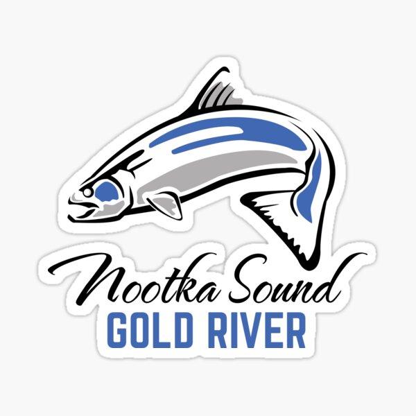 Gold River, BC - Nootka Sound - Salmon Logo Sticker