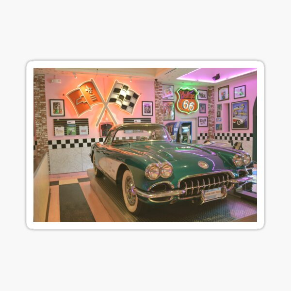 Let's Go To The Corvette Diner ~ San Diego, California Sticker