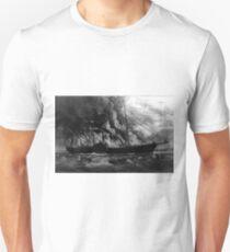 Burning of the steamship Golden Gate - 1862 - Currier & Ives T-Shirt