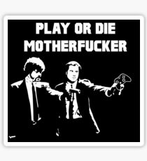 Lets play PULP FICTION Sticker