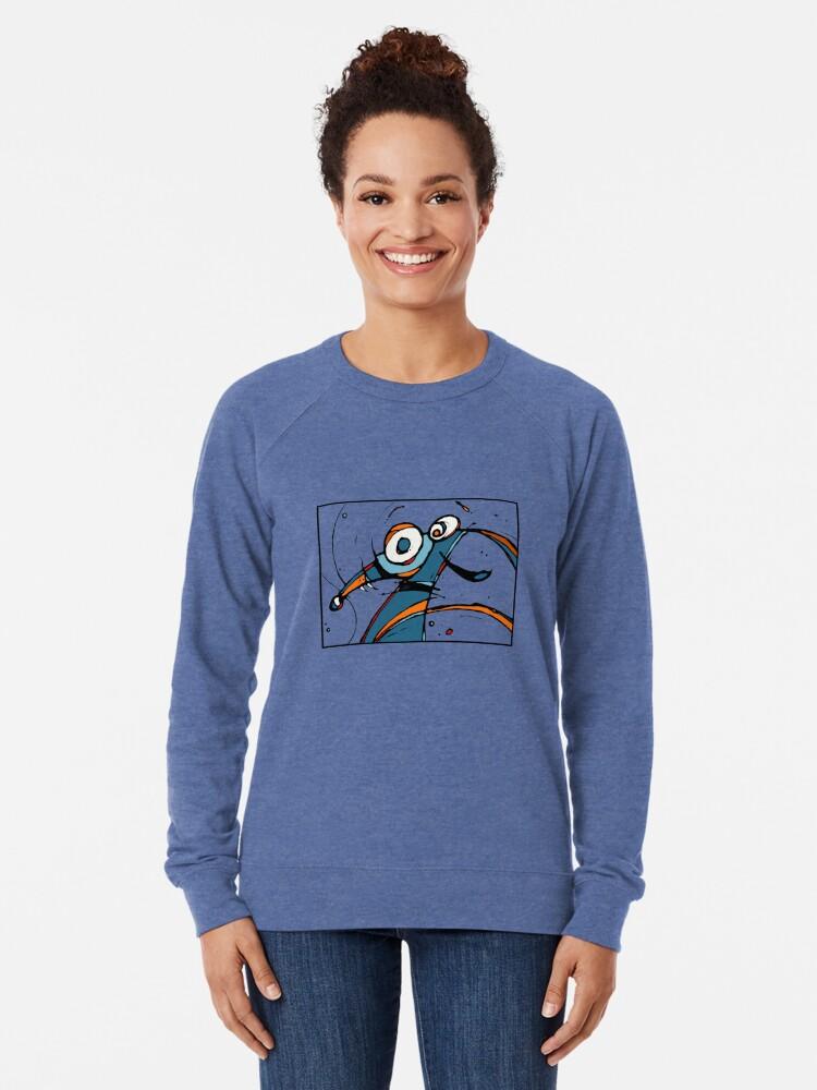 Alternate view of Yayy Carzy Dog Lightweight Sweatshirt