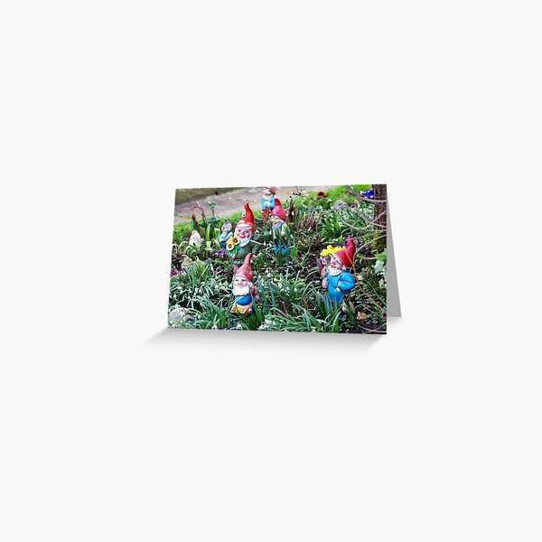 Gnome Greeting Cards Redbubble