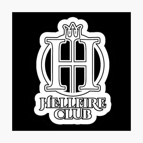 The Hellfire Club White Photographic Print