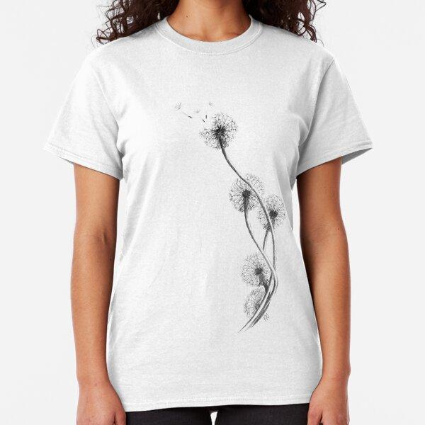 detailed drawing of dandelion clocks Classic T-Shirt