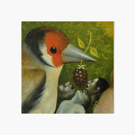 Bosch (Garden of Earthly Delights) Bird feeding men. Art Board Print