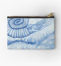 Devonian Blues - Ammonite Zipper Pouch